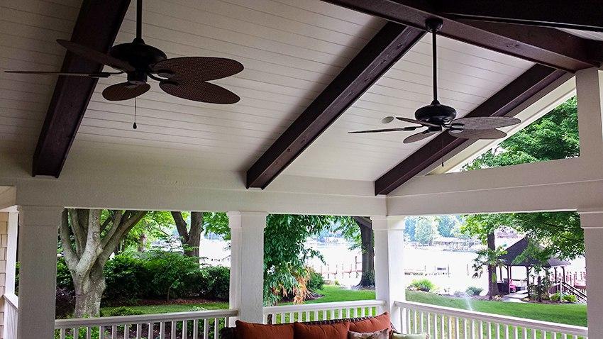 Covered porch addition in Cornelius