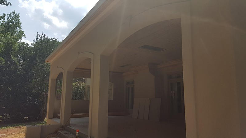 Charlotte, NC Covered Porch, Stucco Completed